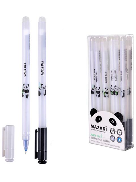 """Ручка """"пиши-стирай"""" гелевая Mazari """"PANDA DAY"""" 0,5 мм, синяя"""