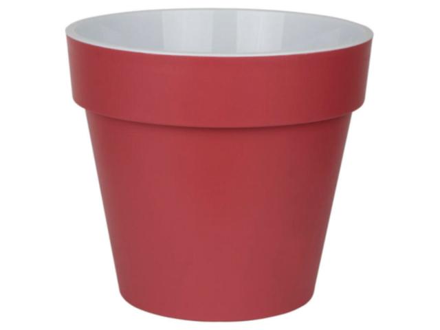"""Горшок для растений """"Протея"""" 6л, d-23,5см, h-20,8см, с вкладкой, бордо"""