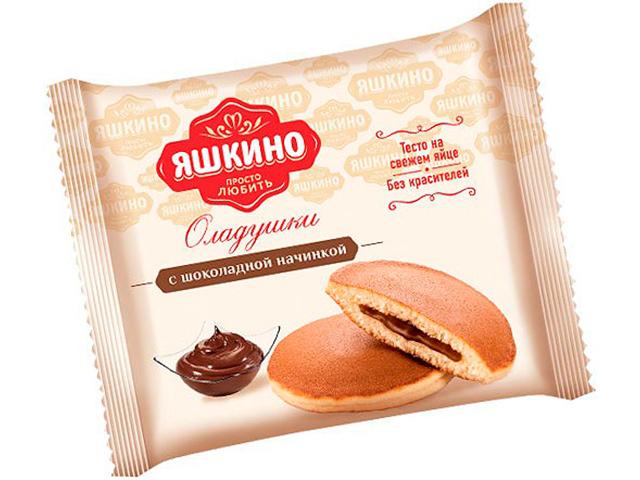 Оладушки Яшкино 36 г с шоколадной начинкой