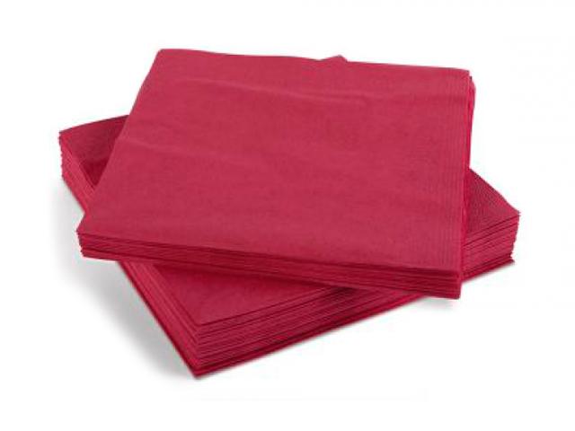 Салфетки бумажные Артпласт, 33х33см, 50 листов, бордовые