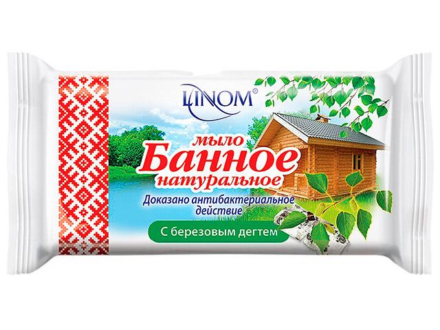 """Мыло туалетное LINOM """"Банное"""" с березовым дегтем 140г"""