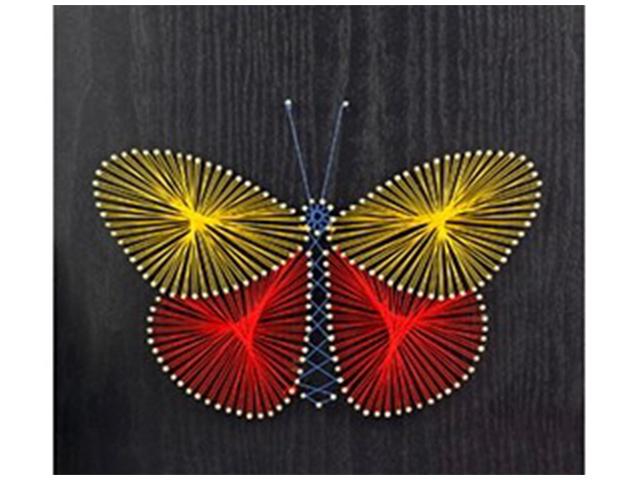 "Набор для творчества ""Стринг Арт. Бабочка"" 30х30 см, из ниток и гвоздей"