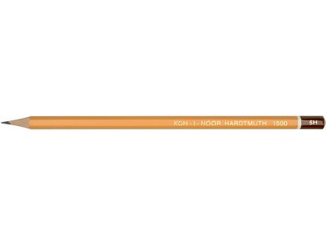 Карандаш чернографитный KOH-I-NOOR 10Н, шестигранный, желтый, без ластика