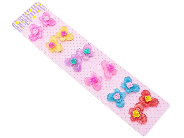 """Набор резинок для волос """"Цветочный декор. Бабочки""""  12 штук в наборе"""