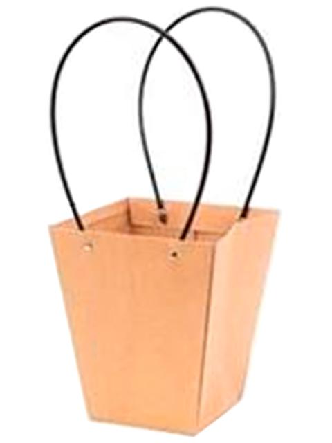 """Пакет подарочный """"Классический"""" крафт, 8х12х13 см, однотонный бурый"""