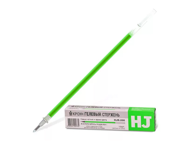 "Стержень гелевый ""Crown. Hi-Jell"" 0,5 мм, зеленый"