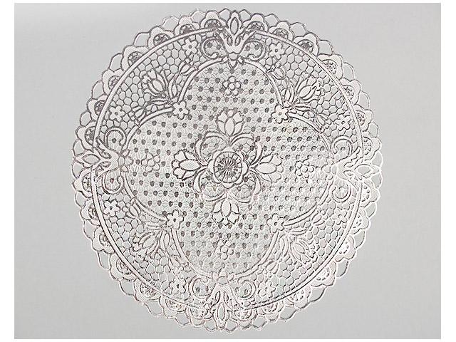 Салфетка ажурная ПВХ d-30см, серебро