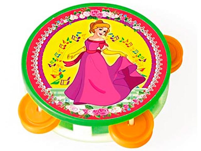"""Музыкальный инструмент Бубен """"Любимая принцесса"""""""