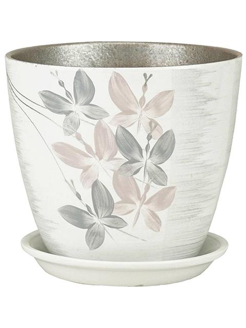 """Горшок для цветов """"Бутон Вальс"""" 21см (с поддоном) , керамика"""