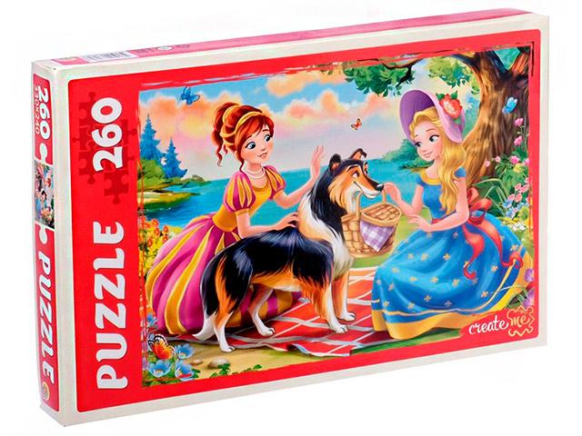 """Пазлы 260 элементов 330х240 Рыжий кот """"Сказка о принцессах"""""""