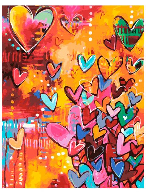 "Картина по номерам ""PaintBoy. Сердца любви"" 40*50см"