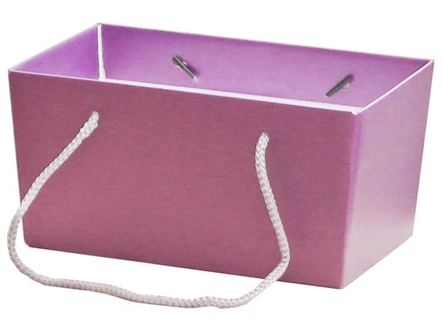 """Коробка для цветов Яркий Мир """"Премиум"""" 255х147х125 мм, сиреневая"""