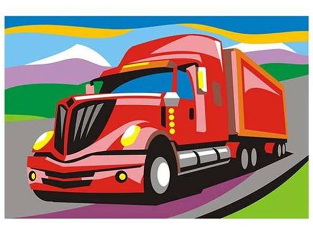 "Картина по номерам LORI ""Американский грузовик"" 20*28,5см"