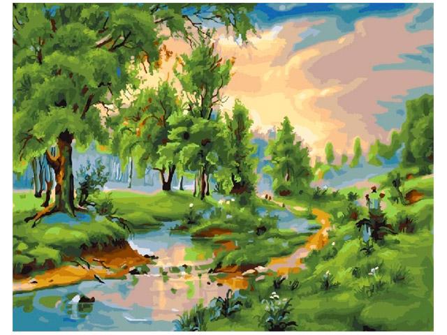 """Картина по номерам Raduga """"Высыхающая река"""" 40*50см"""