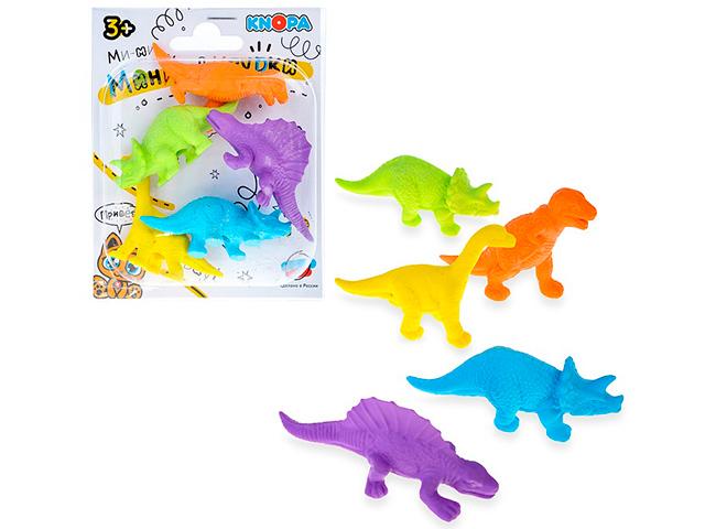 """Игровой набор KNOPA  мини-фигурки """"Динозавры"""" 5 предметов, в блистере"""