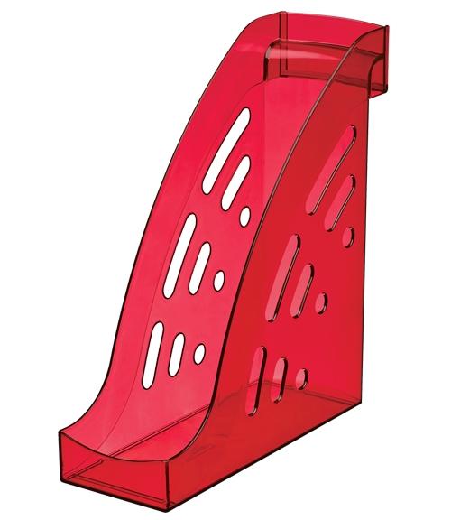 Лоток для бумаг СТАММ Торнадо, вертикальный, тонированный темно-красный (вишня)