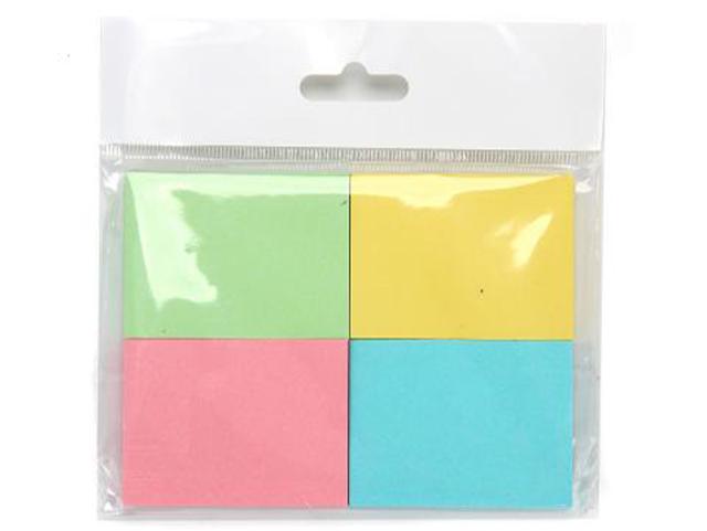 Блок для записей с клеевым краем ClipStudio 38х51 мм, 4 блока в упаковке, 4 цвета
