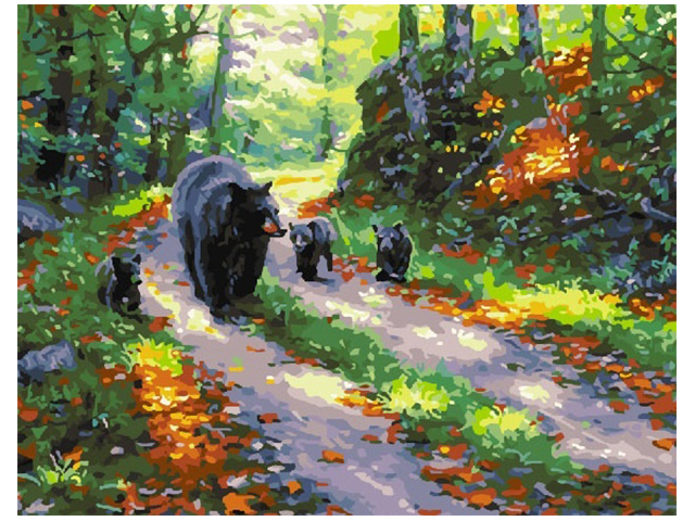 "Картина по номерам Raduga ""Медведи на тропе"" 40*50см"