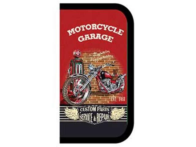 """Пенал 3 отделения Пчёлка """"Motorcycle garage"""" 190х105 мм, печать на ткани"""