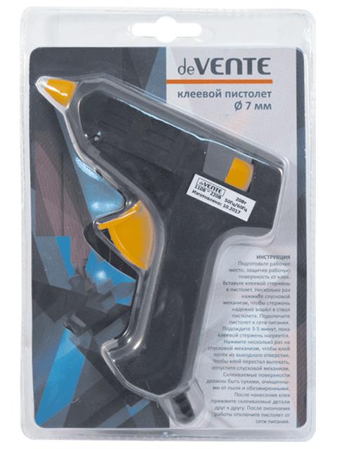 Клеевой пистолет deVENTE 20 Вт для стержня 7 мм, в блистере