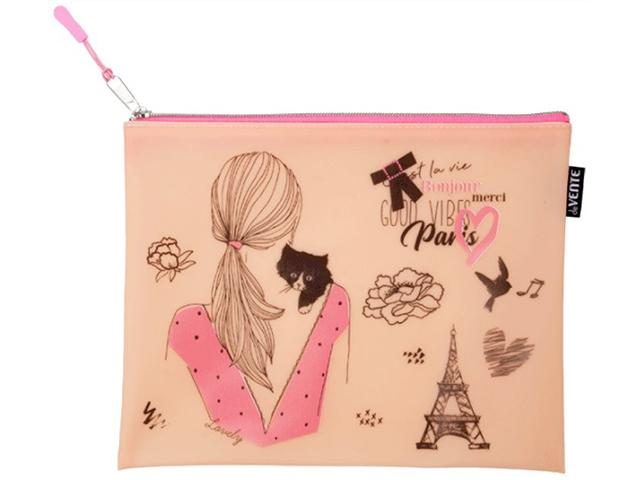 """Папка для тетрадей А5 deVENTE """"Paris"""" 24,5x20см, 1 отделение"""