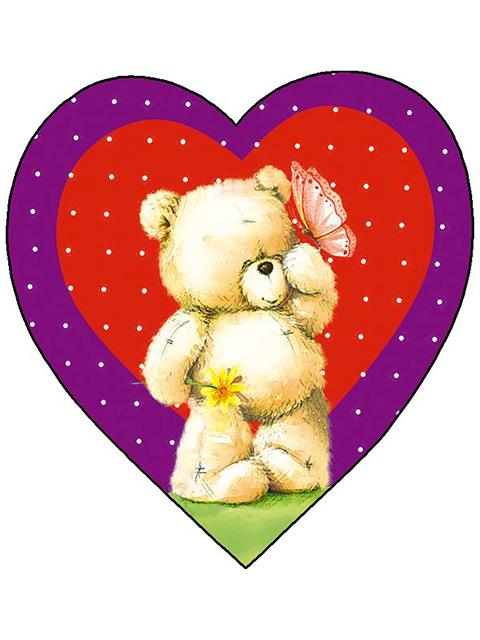 """Открытка-валентинка """"Целую, обнимаю и просто обожаю!"""", фигурная вырубка"""