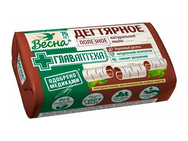 """Мыло туалетное Весна """"Дегтярное"""", 90 г"""