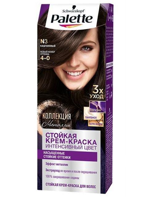 Крем-краска для волос Palette №3 Каштановый