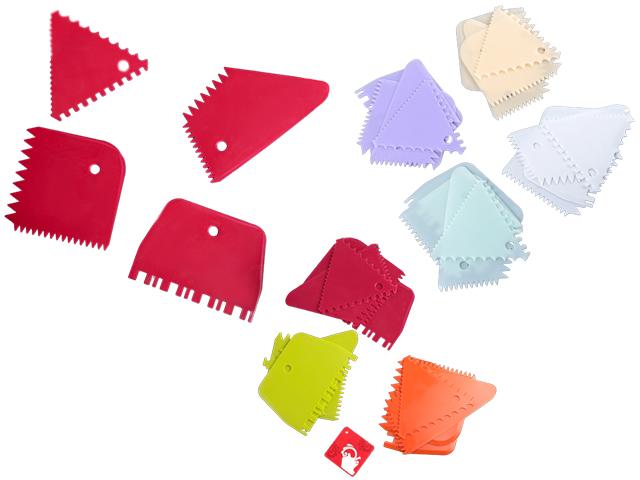Набор шпателей кондитерских 4 шт, цвет микс