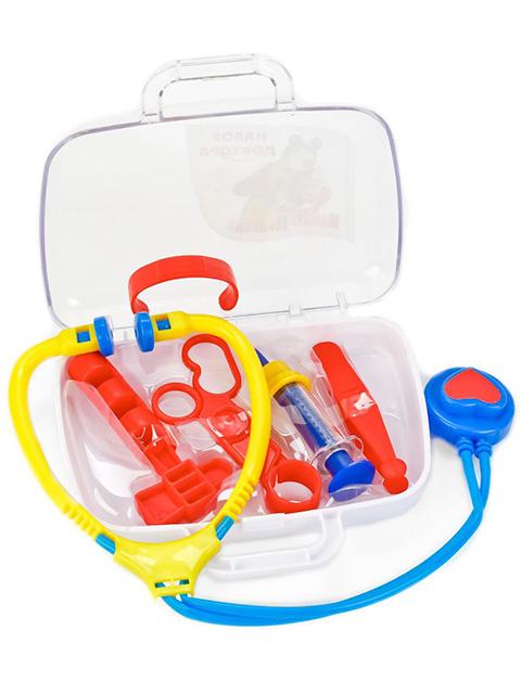 """Игровой набор доктора """"Маша и Медведь. Давай лечиться!"""" в чемоданчике, 6 предметов"""