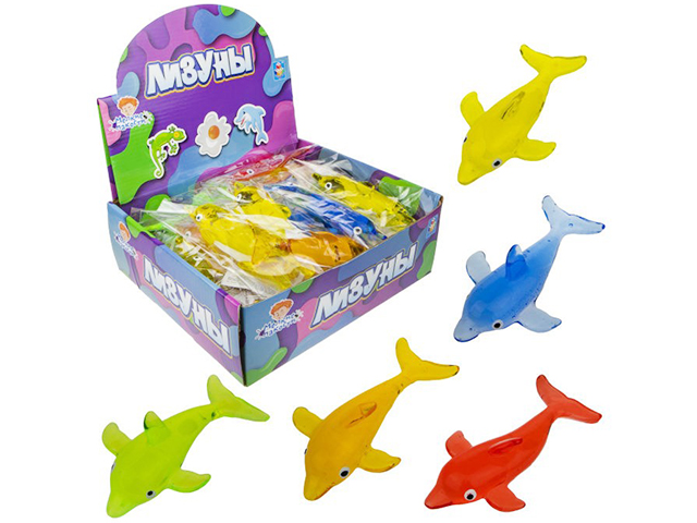 """Игрушка-Лизун """"Мелкие пакости. Дельфин"""" 14,5 см, в пакете"""