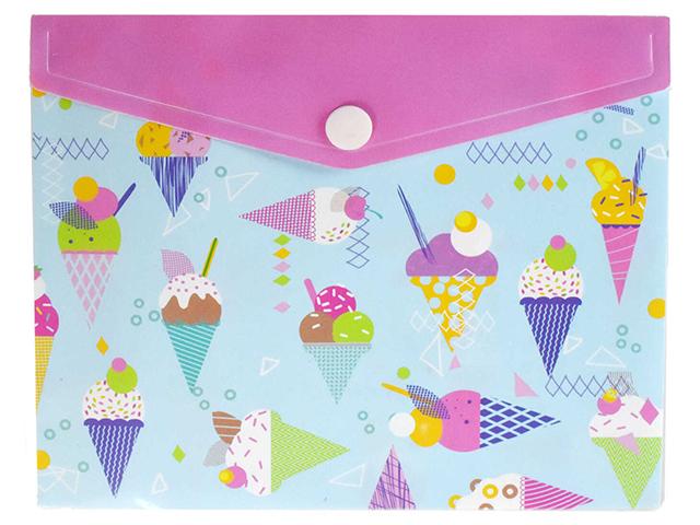 "Папка-конверт на кнопке А6 Феникс+ ""Мороженое"""