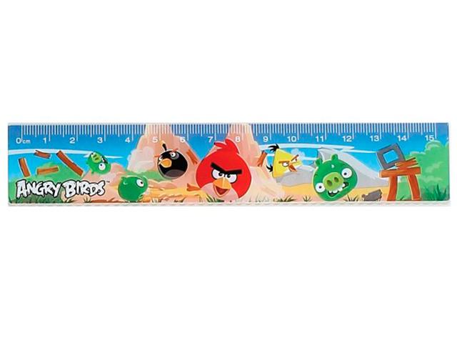 """Линейка детская 15 см """"Хатбер-М. Angry Birds"""""""
