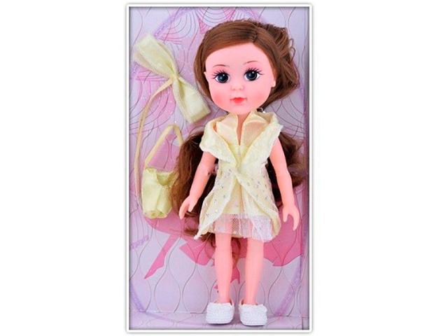 """Игрушка """"Кукла в желтом платье"""" в пакете"""