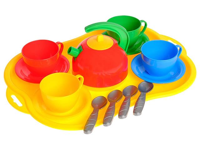 """Игровой набор посуды """"Маринка 6"""" 14 предметов"""