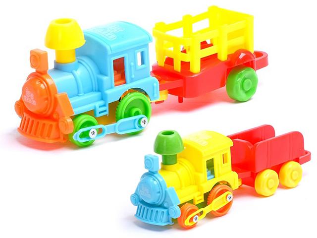 """Игрушка """"Паровоз с вагонами."""" инерционная"""