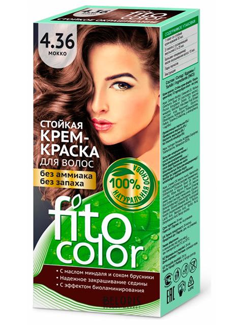 Крем-краска для волос FITOCOLOR 4.36 Мокко