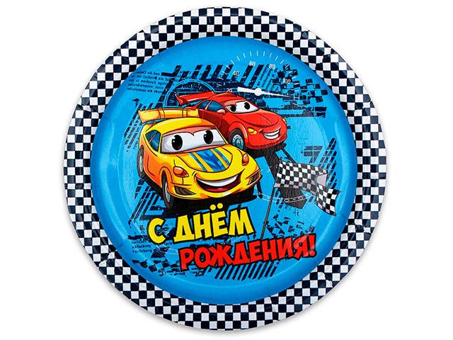 """Тарелка бумажная MILAND """"Гонки"""" 6 штук в упаковке"""
