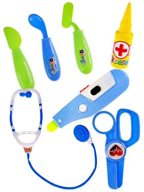 """Игровой набор доктора """"Медсестра-3"""" 9 предметов, свет, звук"""