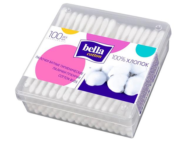 Ватные палочки Bella cotton, 100шт в пластиковой упаковке