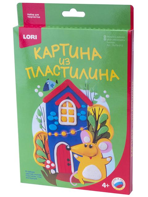 """Набор для детского творчества """"Картина из пластилина. Мышка у домика"""""""