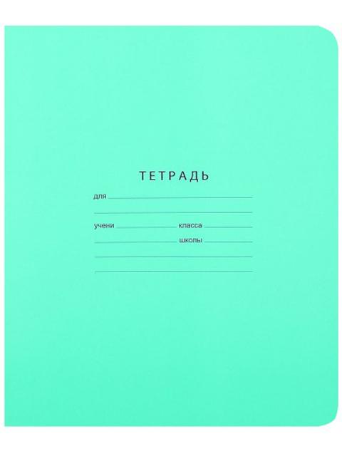 """Тетрадь А5 12 листов, линия частая косая БиДжи """"Отличная (зеленая)"""" обложка однотонная"""