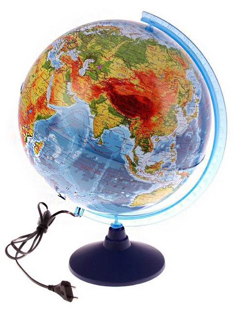 Глобус d=320мм Физический с подсветкой Классик Евро