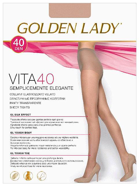 """Колготки женские Golden Lady """"Vita 40"""" Melon 5-XL"""