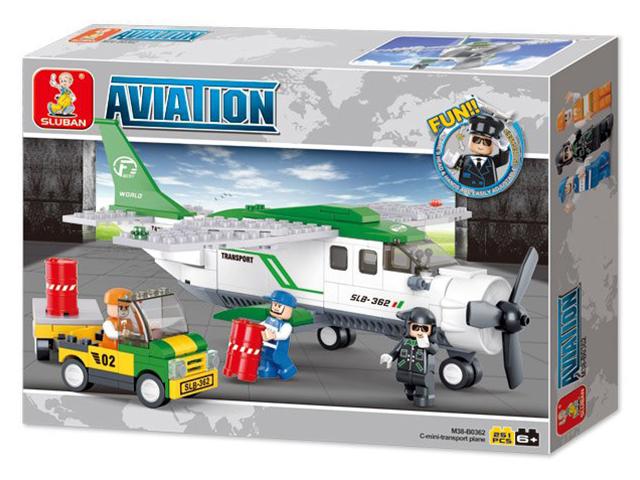 """Конструктор SLUBAN """"Авиация. Транспортный самолет"""" 251 деталь"""