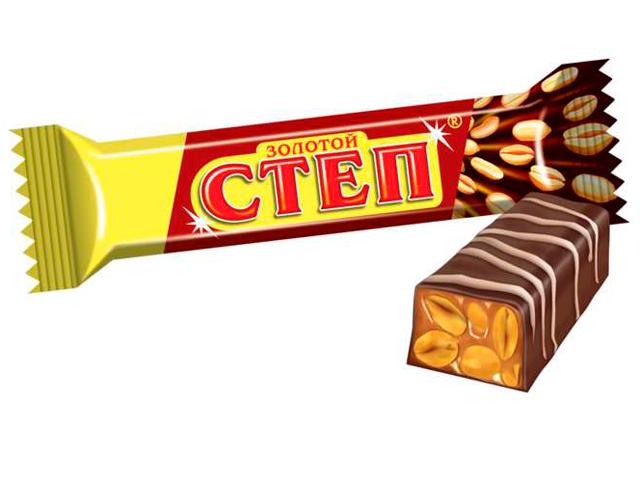 """Батончик """"Золотой степ"""" 50 г с орехом"""