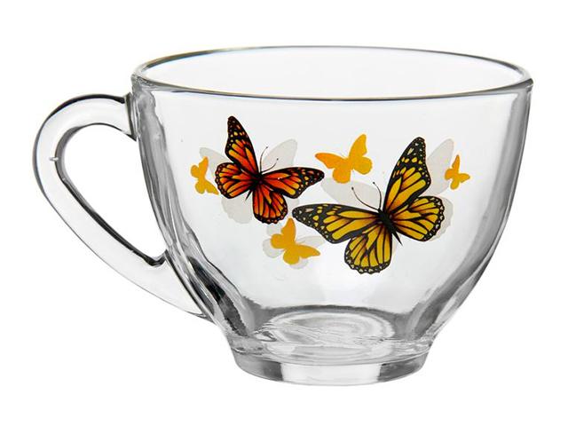 """Кружка """"Космос. Жёлтые бабочки"""" 200 мл, стекло"""