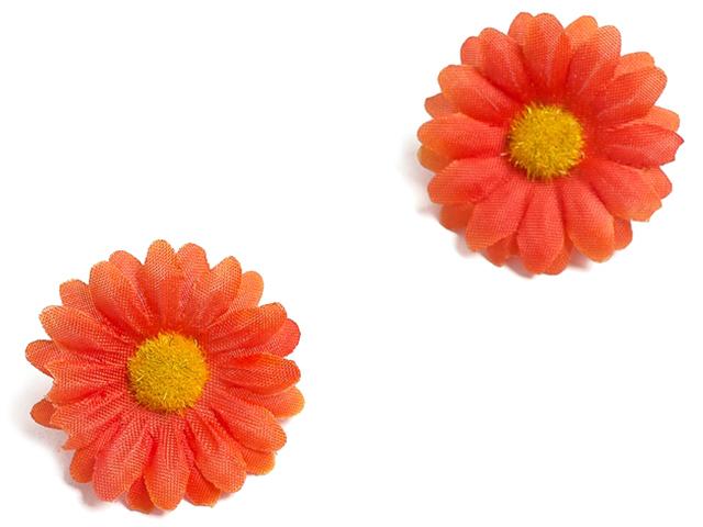 "Головки цветов ""Ромашки"" 3,7см, темно-оранжевый (цена за 1шт)"