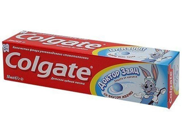 "Зубная паста детская Colgate ""Доктор Заяц"" со вкусом жвачки, 50 мл"