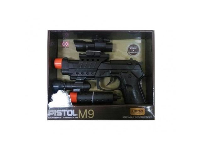 """Игрушечное оружие Пистолет """"Pistol M-9"""", свет/звук"""